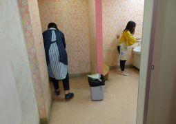 『2学期最初のトイレ清掃 と 懇親会』