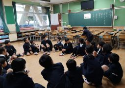 通学班活動(6年生を送る会)