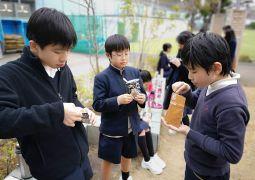 地震避難訓練&防災食体験