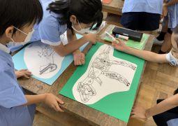 文房具恐竜と糸のこパズル