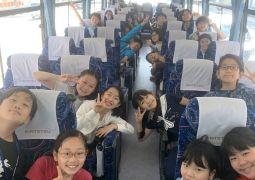 遠足バス1組の様子