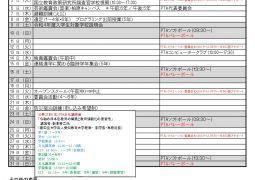 10月行事予定(10月13日改訂版)